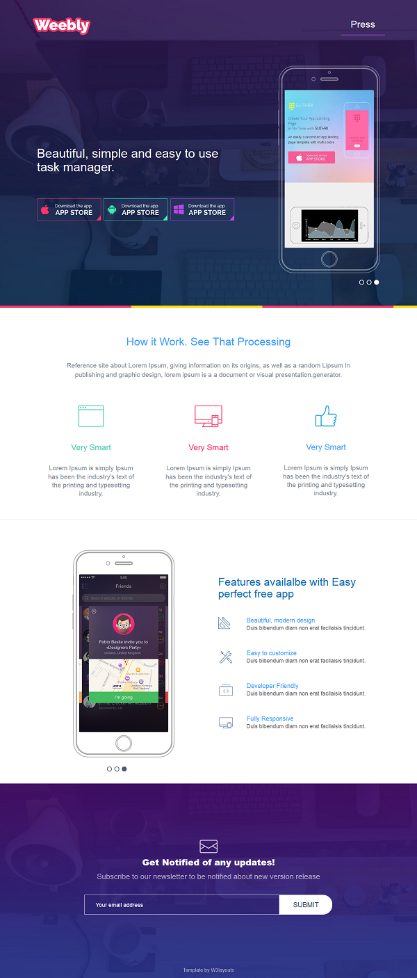Top 15 Newest Best And Free Mobile App HTML Templates | Templates ...