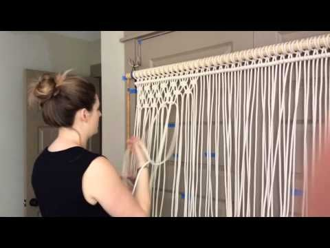 download video how to diy macrame wall hanging decor boho room decor creativity. Black Bedroom Furniture Sets. Home Design Ideas