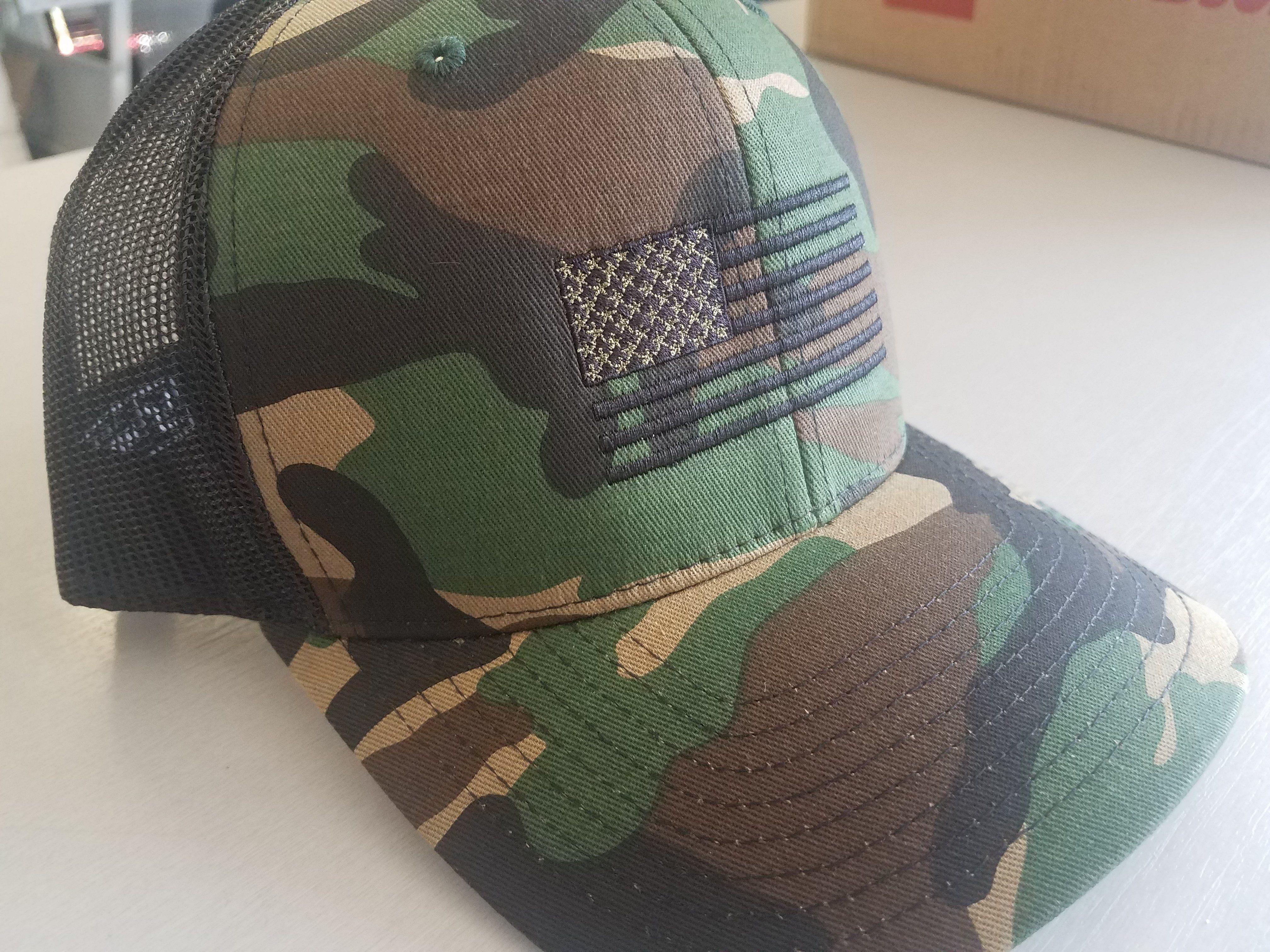 Hat - Richardson Woodland American Flag  ee3bd894beb9