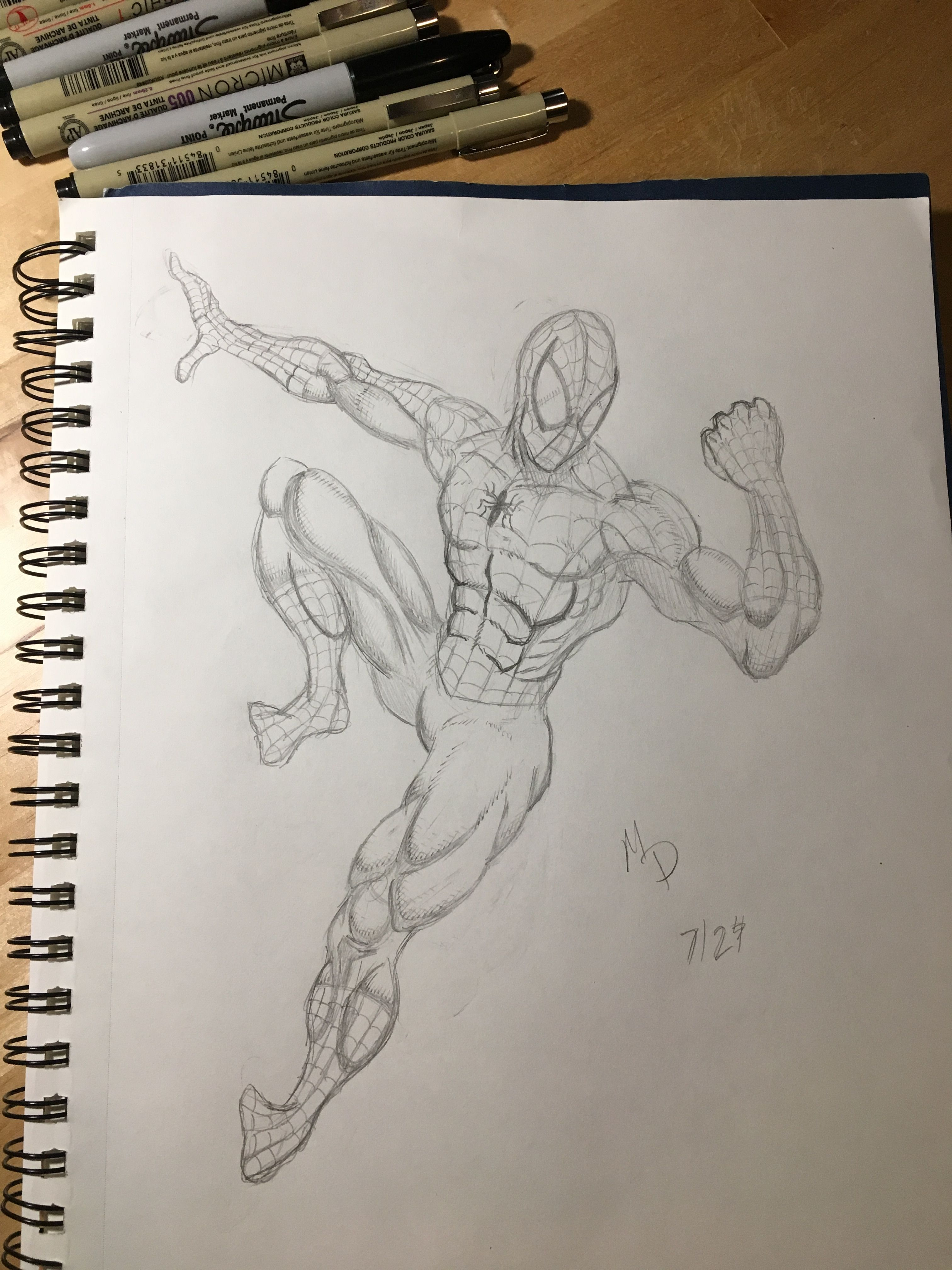 Spiderman Drawing 7 29 18 My Drawings Spiderman Drawing Drawings