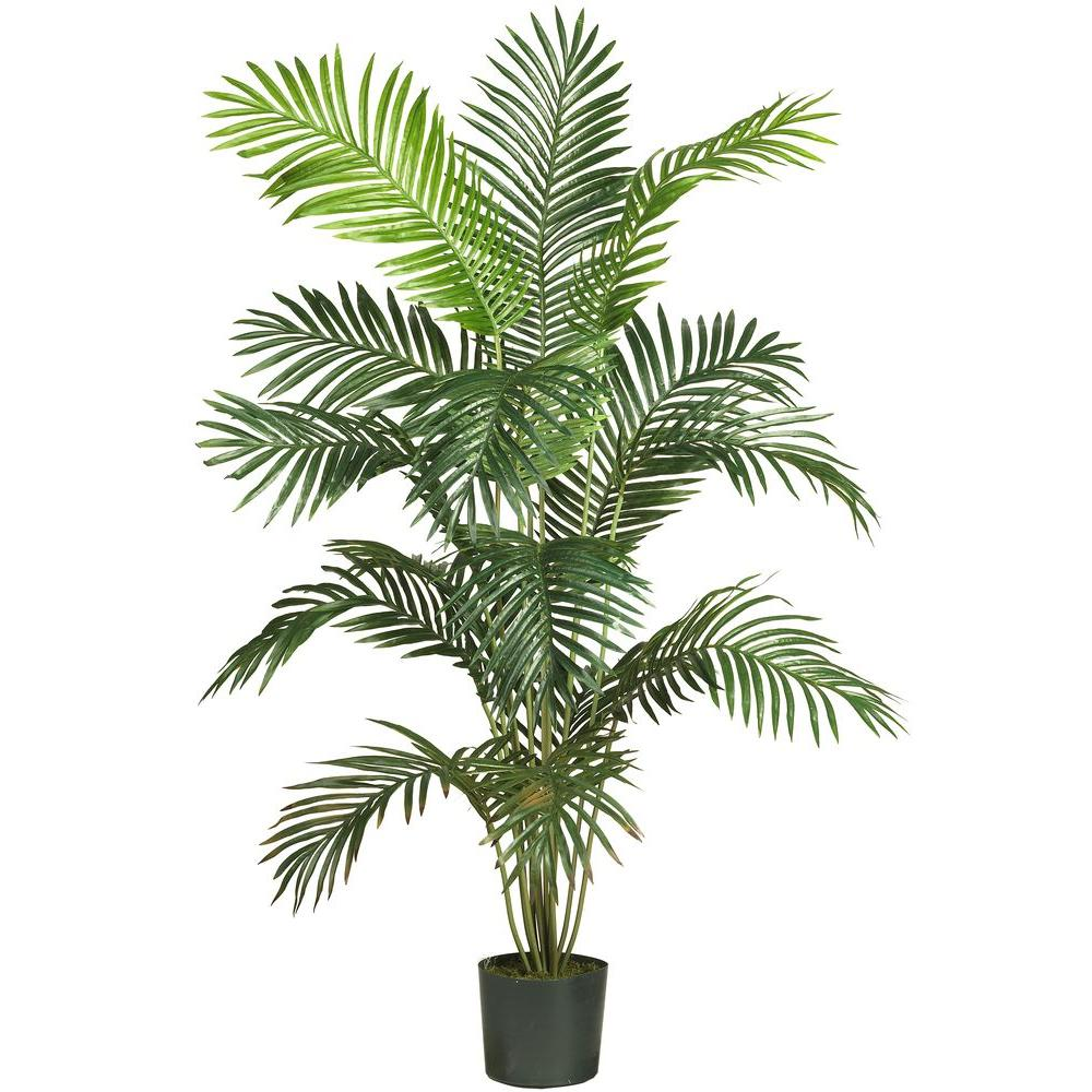 Nearly Natural 5 Ft 6 In Paradise Palm Silk Tree 5260 The Home Depot Plant Office Decor Potted Trees Faux Plants