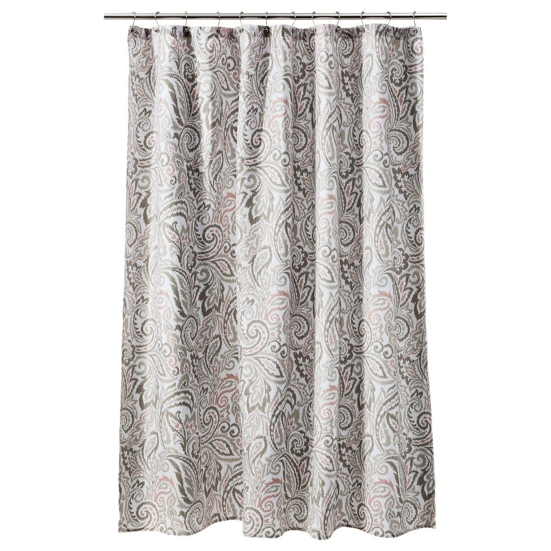 Threshold paisley shower curtain graycoral ideas for the