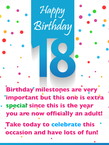 An Extra Special Day Happy 18th Birthday Card Birthday Greeting Cards By Davia 18th Birthday Cards 18th Birthday Happy Birthday Lettering