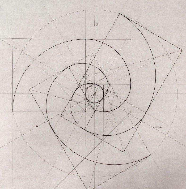 Triple Fibonacci spirals | Sacred Geometry & Fractal Art ...