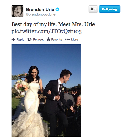 Awww Makes Me Wanna Cry Brendon Urie Wife Wedding Emo Bands