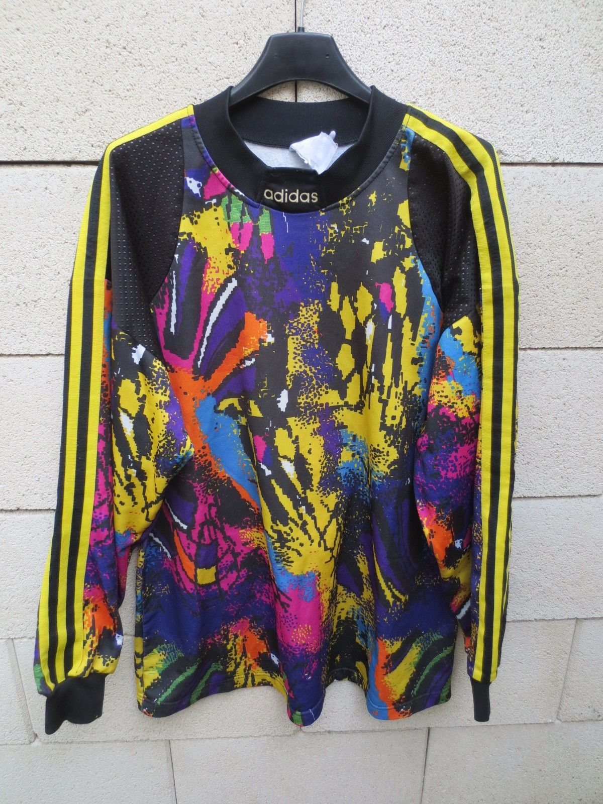 VINTAGE Maillot goal ADIDAS n 1 shirt trikot keeper 1990 collection XL  football