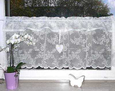 xl145x52 s e spitzen scheibengardine ikea alvine rosali landhaus shabby fenster in 2019. Black Bedroom Furniture Sets. Home Design Ideas
