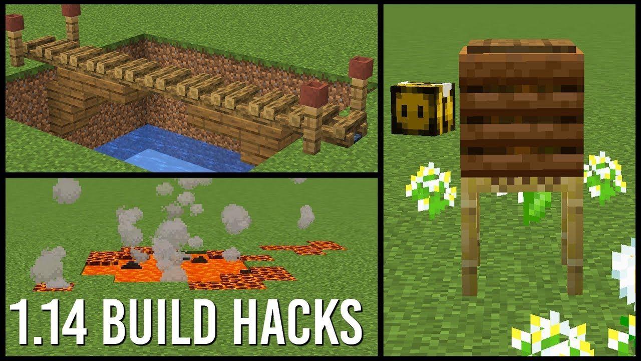 1 14 Minecraft Build Hacks Youtube Projetos Minecraft