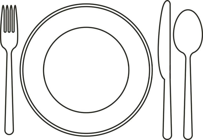 Awesome Plate Clipart Black And White Photos Clipart Black And White Clip Art Black And White Cartoon