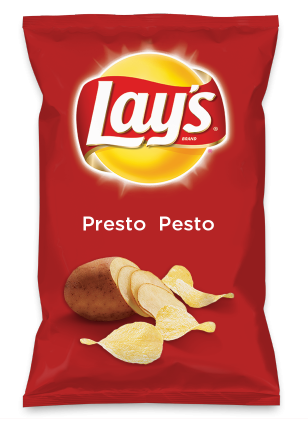 Wouldn't Presto  Pesto be yummy as a chip? Lay's Do Us A Flavor is back, and the search is on for the yummiest flavor idea. Create a flavor, choose a chip and you could win $1 million! https://www.dousaflavor.com See Rules.