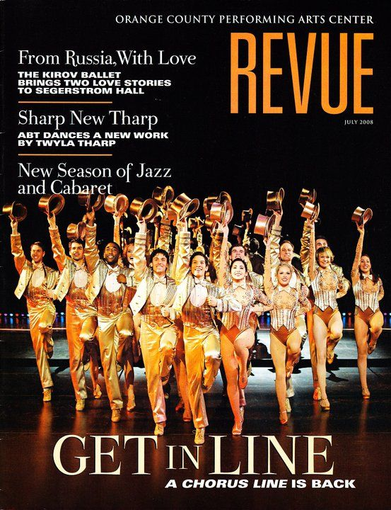 A Chorus Line (rivival) National tour, Theatre Magazine of Orange County Performing Arts Center in Costa Mesa, CA