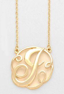 fa0a0acf9 Monogram Initial Necklace 1.5