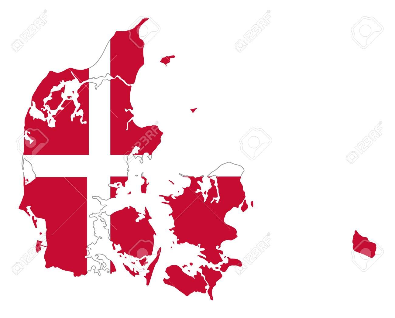 Flag Of Denmark In Country Silhouette Danish National State Ensign A White Scandinavian Cross On A Red Field King In 2020 Denmark Flag Scandinavian Nordic Countries