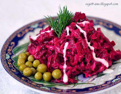 Салат из свёклы пошаговой