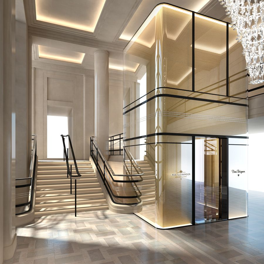 Stunning Staircase And Elevator Design Ideas: Elevator Design, Lobby Design