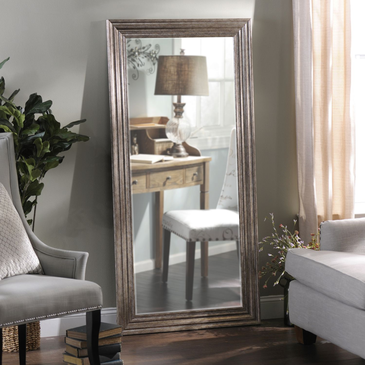 Be sure to look your best with the help of a chic floor ... on Floor Mirrors Decorative Kirklands id=47898