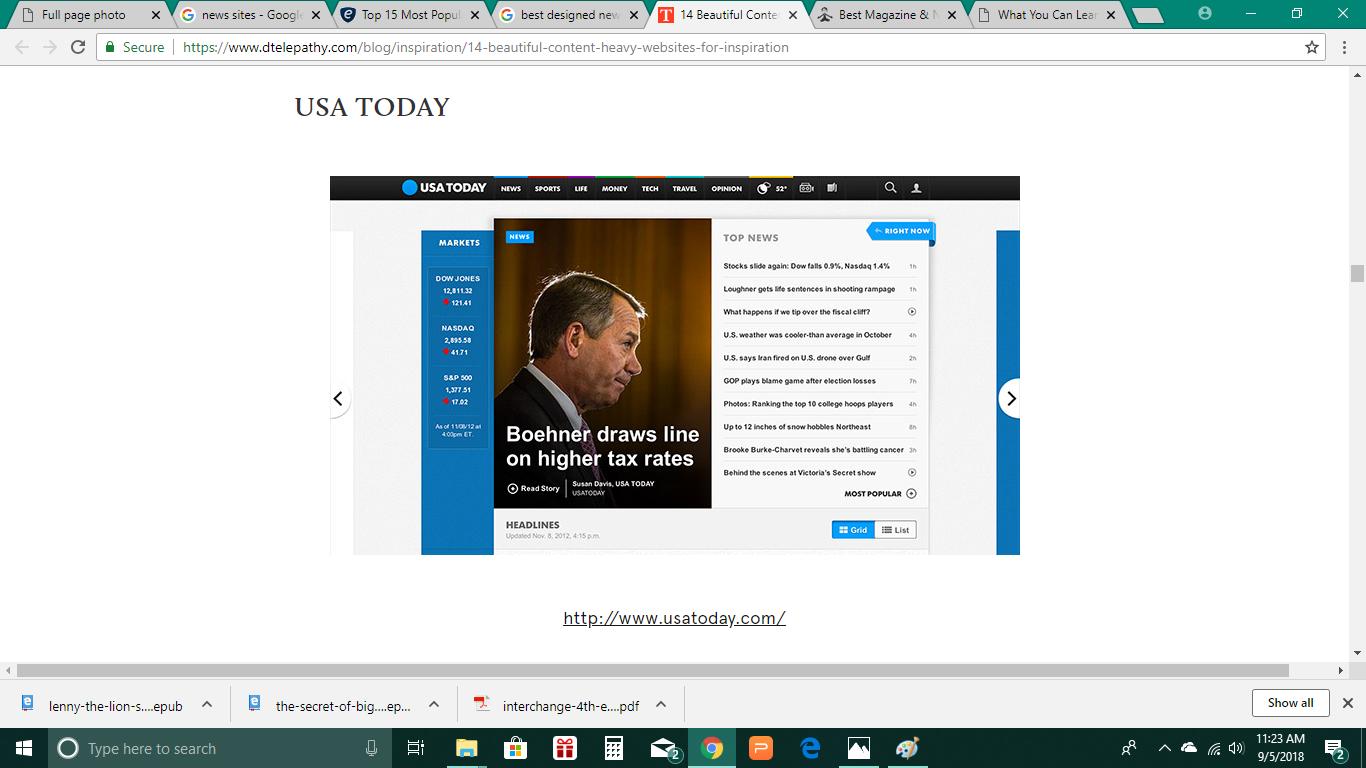 homepage design Homepage design, Design, Usa today