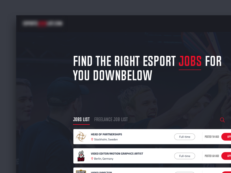 Esports Jobs Web Design Concept With Images