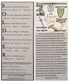 Armor of God Bookmark SGLY Ministry  www.smilegodlovesyou.org