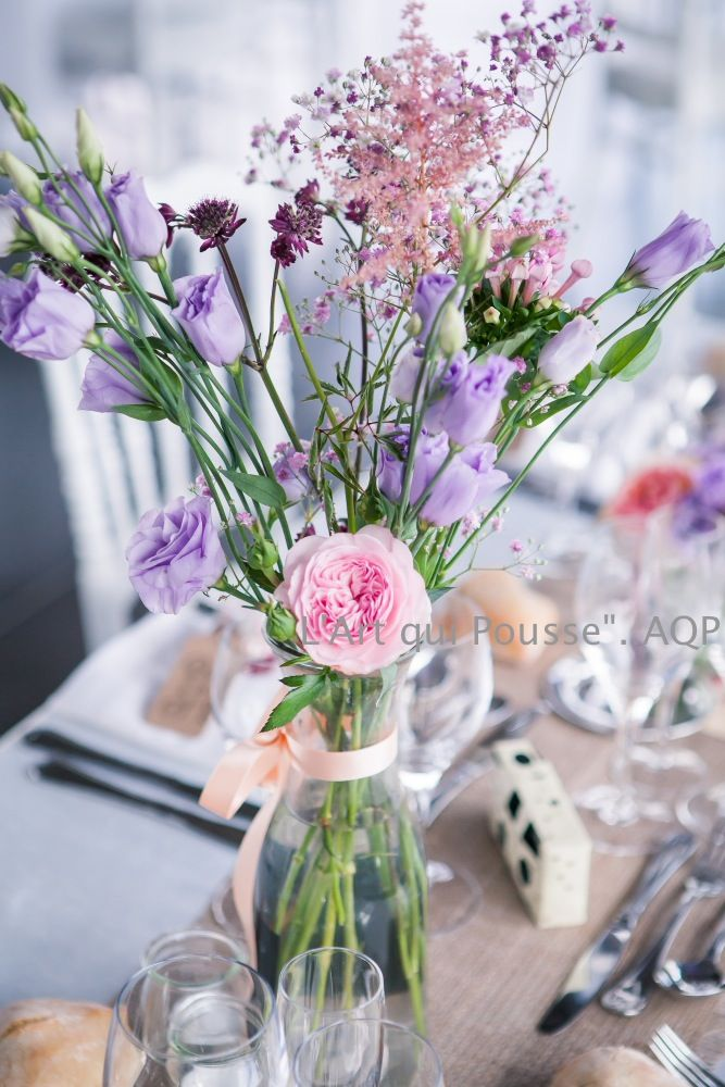 mariage boh me mariage bucolique vases centre table. Black Bedroom Furniture Sets. Home Design Ideas