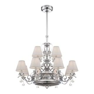 Savoy House 38-330-FD Coromell 12 Light Ionizing Ceiling Fan with Crystal Accents and Remote