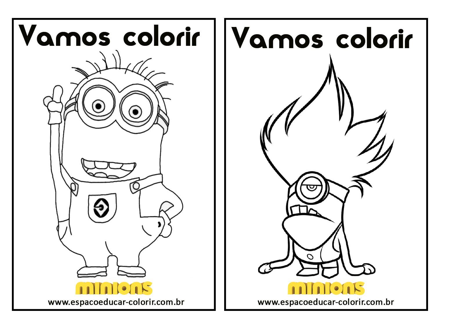 livro de colorir dos minions grátis para imprimir revista de