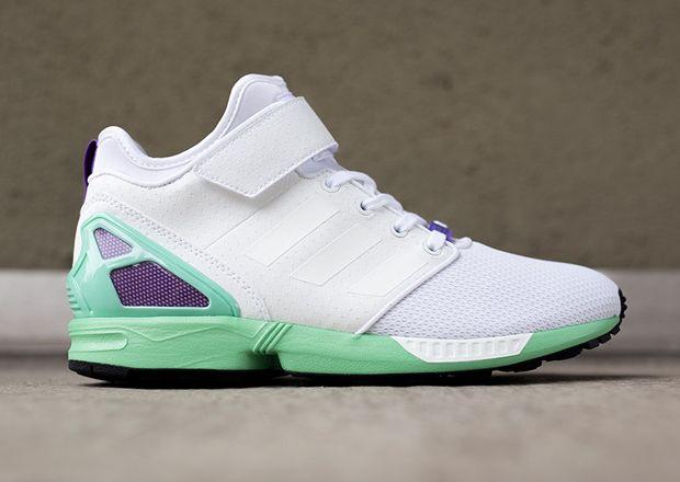 adidas ZX Flux NPS Mid White Mint Purple SneakerNews