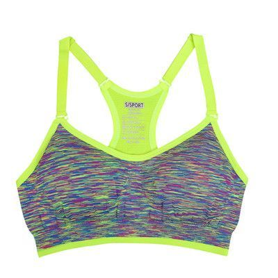 097953f397b84 Women Fitness Yoga Sports Bra For Running Gym Padded Wire free Shake proof  Underwear Push Up Seamless Fitness Top Bras