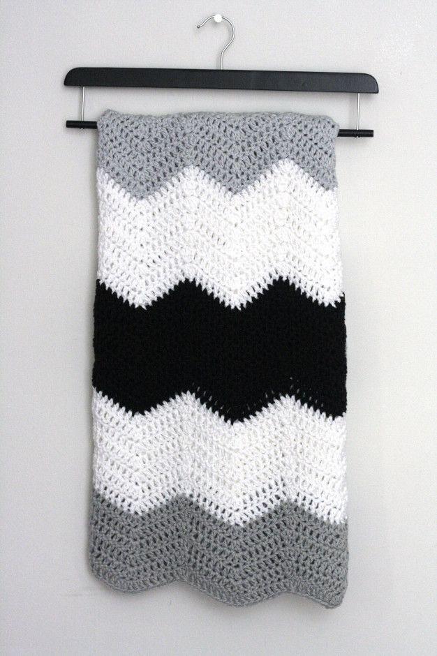 crochet colorblock chevron blanket004 | Crochet | Pinterest | Mantas ...