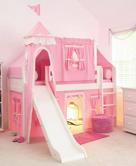 Sleeping Beauty Castle Bed...hmmm, how could I make this