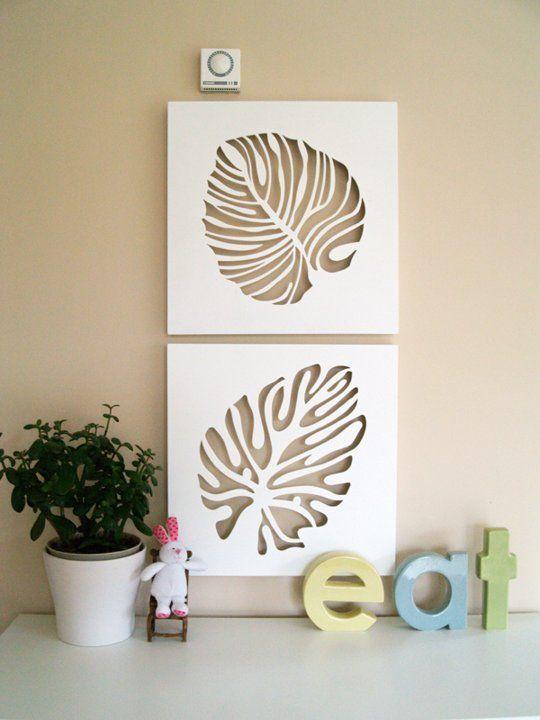 A Calm & Neutral Dining Room   CNC Artwork   Pinterest   Leaf wall ...