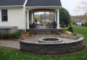 patio designs with fire pit and hot tub. Love The Covered Porch And Stone Patio With Fire Pit. Designs Pit Hot Tub U