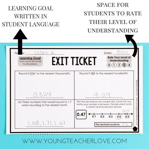 Differentiated Exit Tickets by Kristine Nannini Math Pinterest
