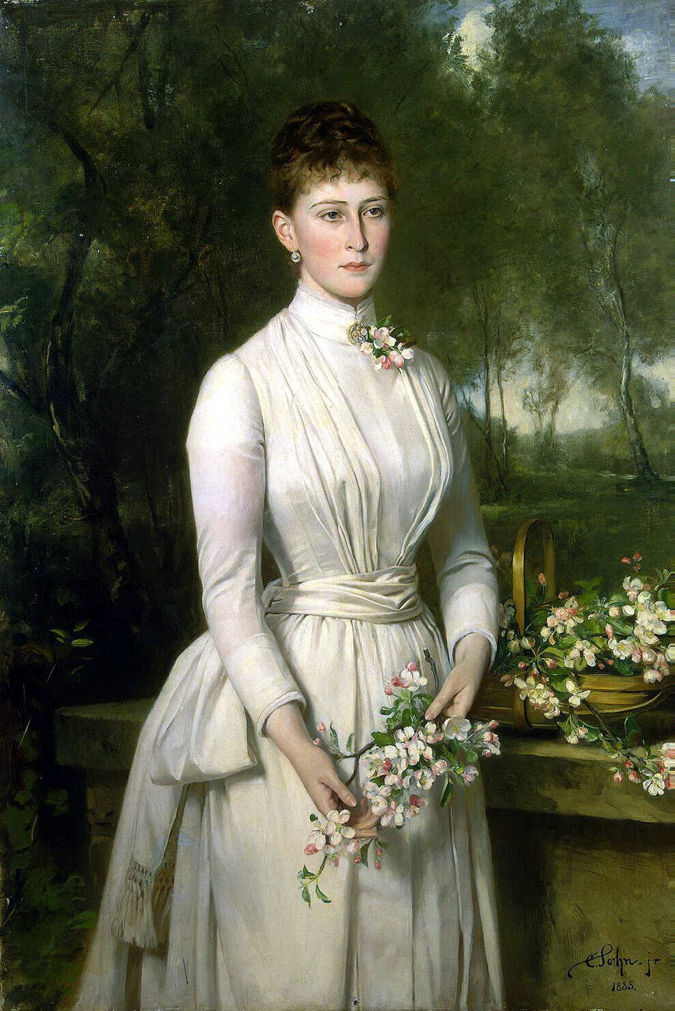 Portrait of Gdss Elisabeth Fyodorovna of Russia, neé pss of Hesse and by Rhine and known as Ella By Carl Sohn, 1885 Click to see it in high res