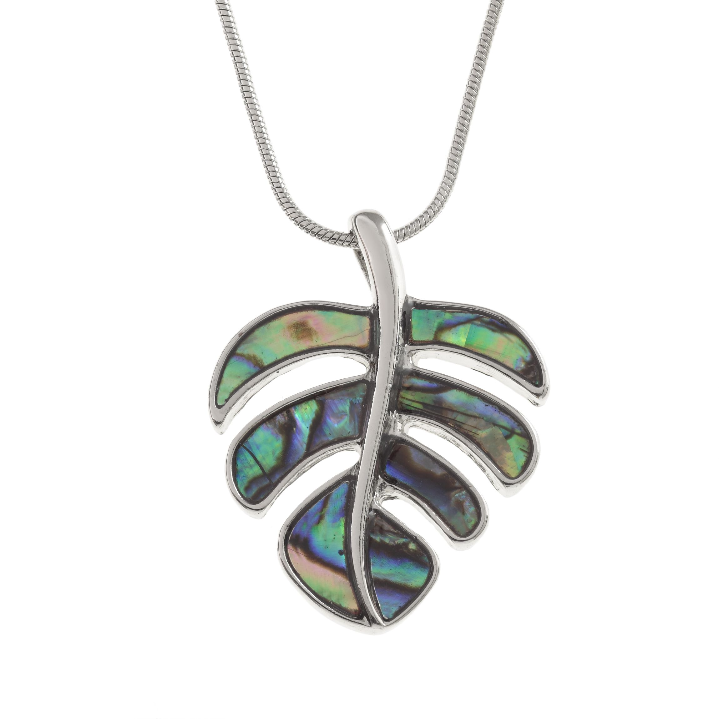 with blue inlaid shop bolt shell pendant paua lightning