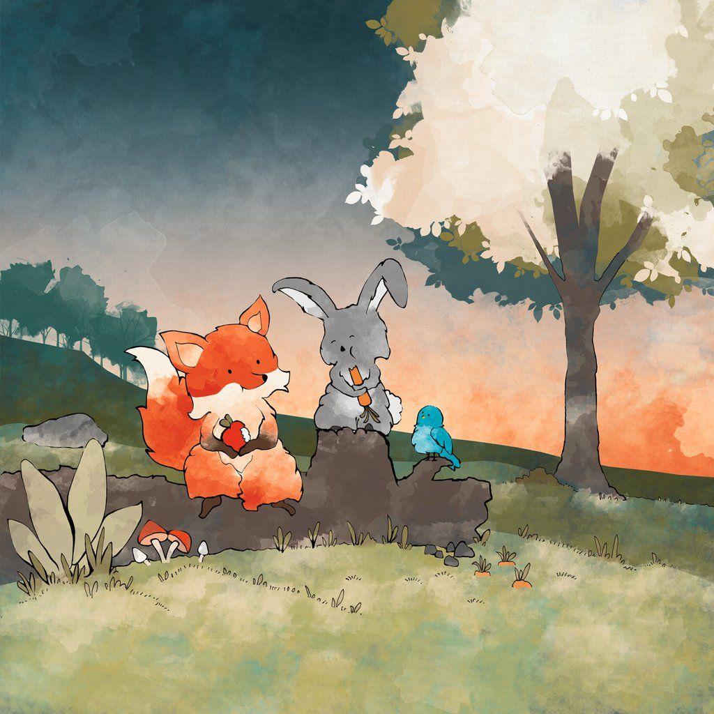 мультяшные картинки лисы и зайца смешанная- различные