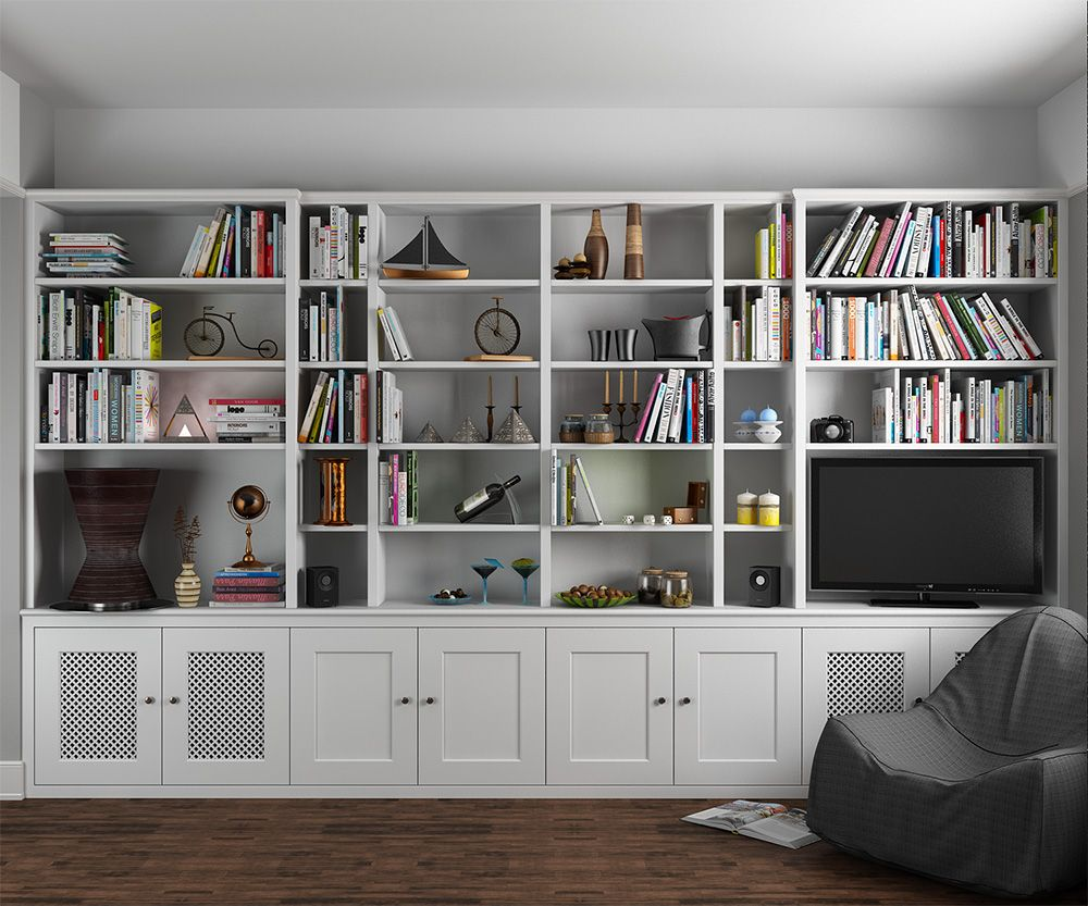 Room Traditional MDF Fitted Bookcase