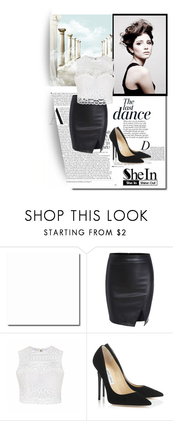 """""""SHEINSIDE CONTEST"""" by almedina-bojic ❤ liked on Polyvore featuring Anja, Angelo, Ally Fashion and Jimmy Choo"""