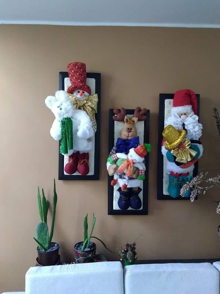 Adornos de fieltro para navidad en marcos de madera - Videos de adornos navidenos ...