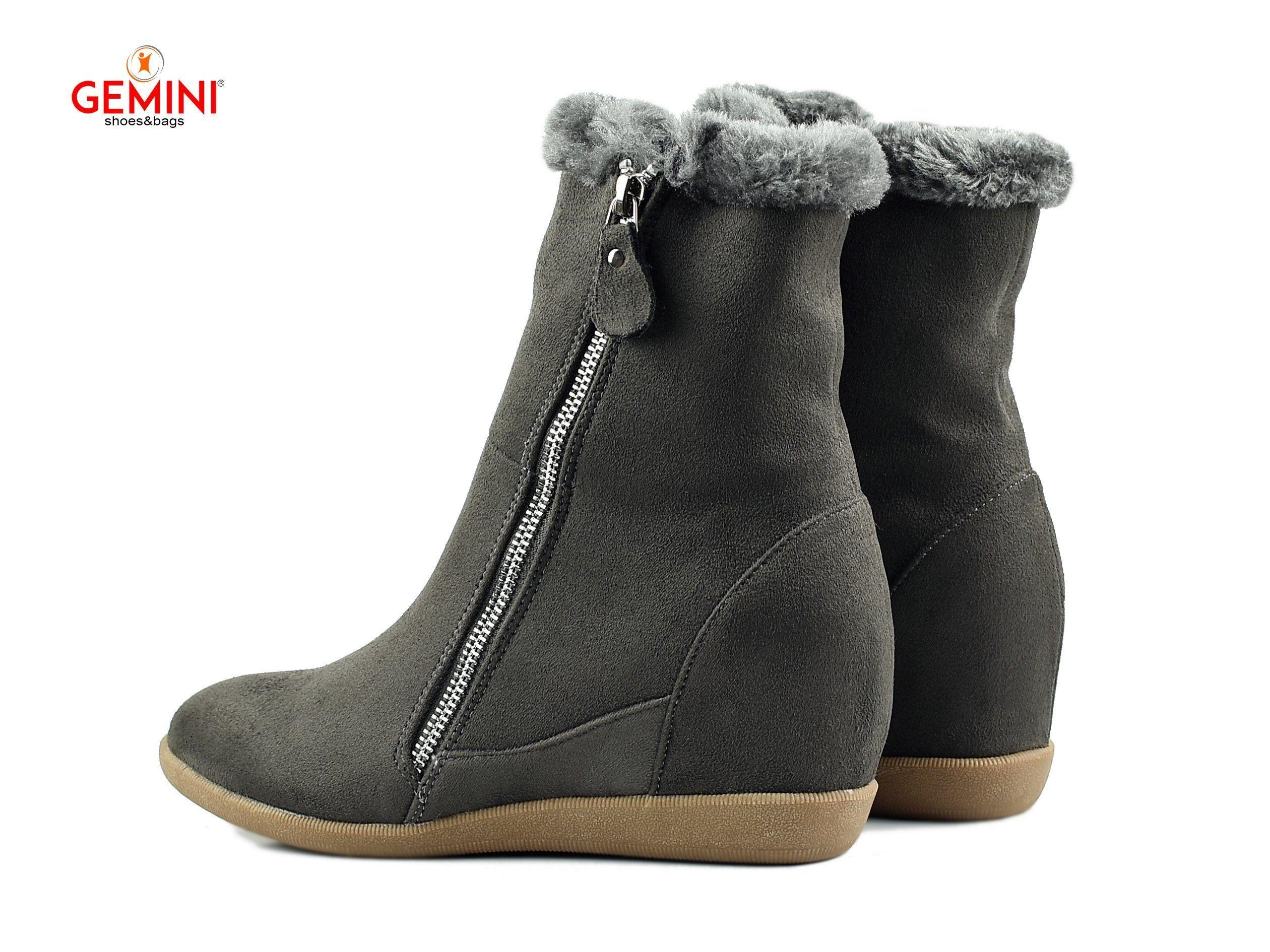 Monnari Botki Sneakersy Koturny Futerko Nowosc Boots Wedge Sneaker Shoes