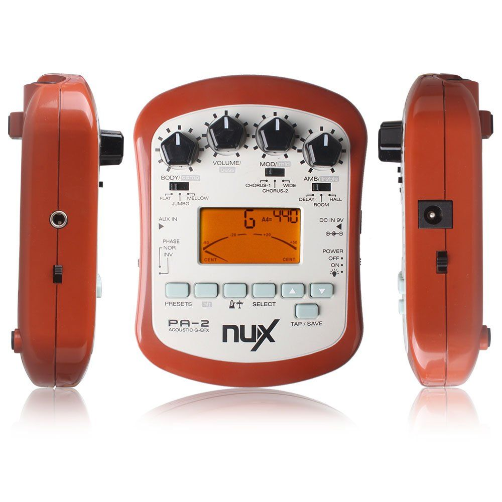 Nux Aux In Pa2 Portable Acoustic Guitar Effects Processor Flat Tuning Function Continue To The Product At The Image Link It Is Amazon Affiliate Link Guitar