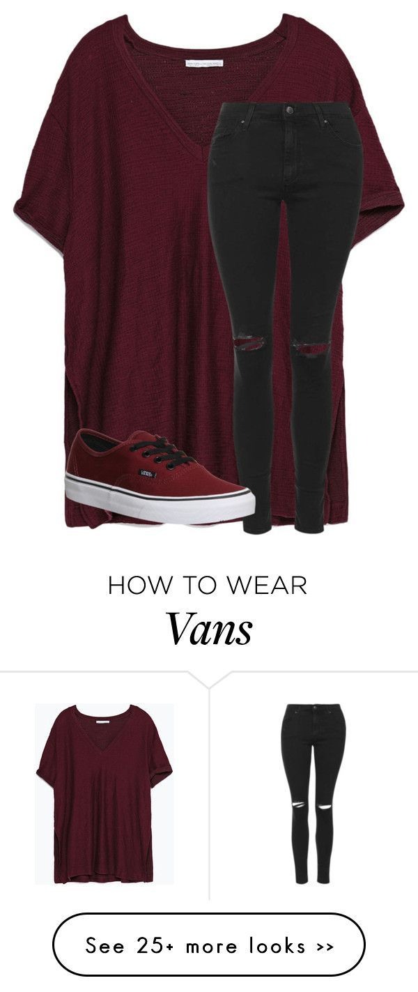 Vans burgundy what to wear with images