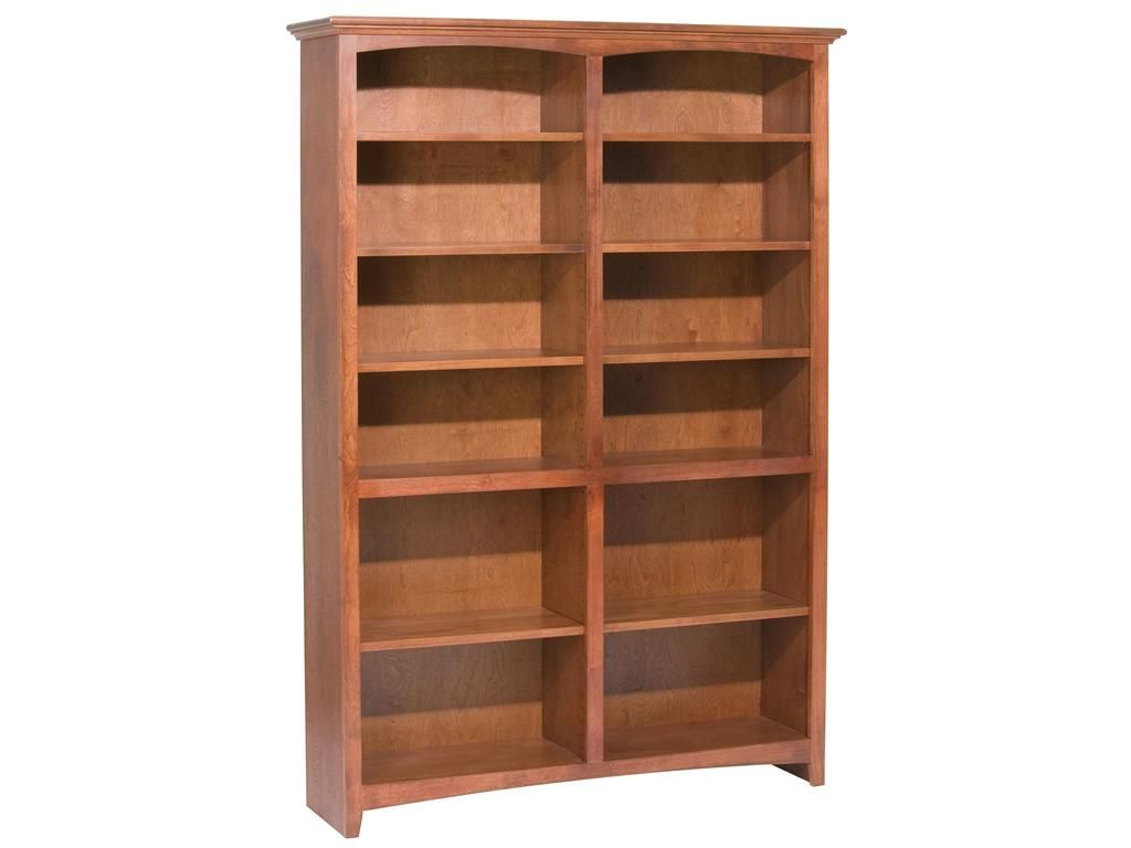 impressive wood bookcase from whittier furniture based in