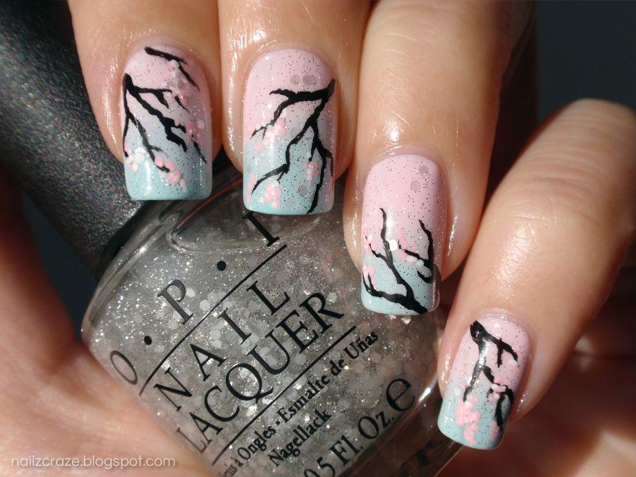 sakura+nail+art+gradient+essie+figi+essie+mint+apple+candy+essie+van ...