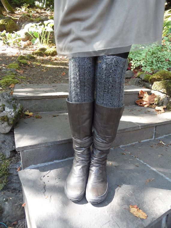 Leg Warmers in Charcoal Grey Wool