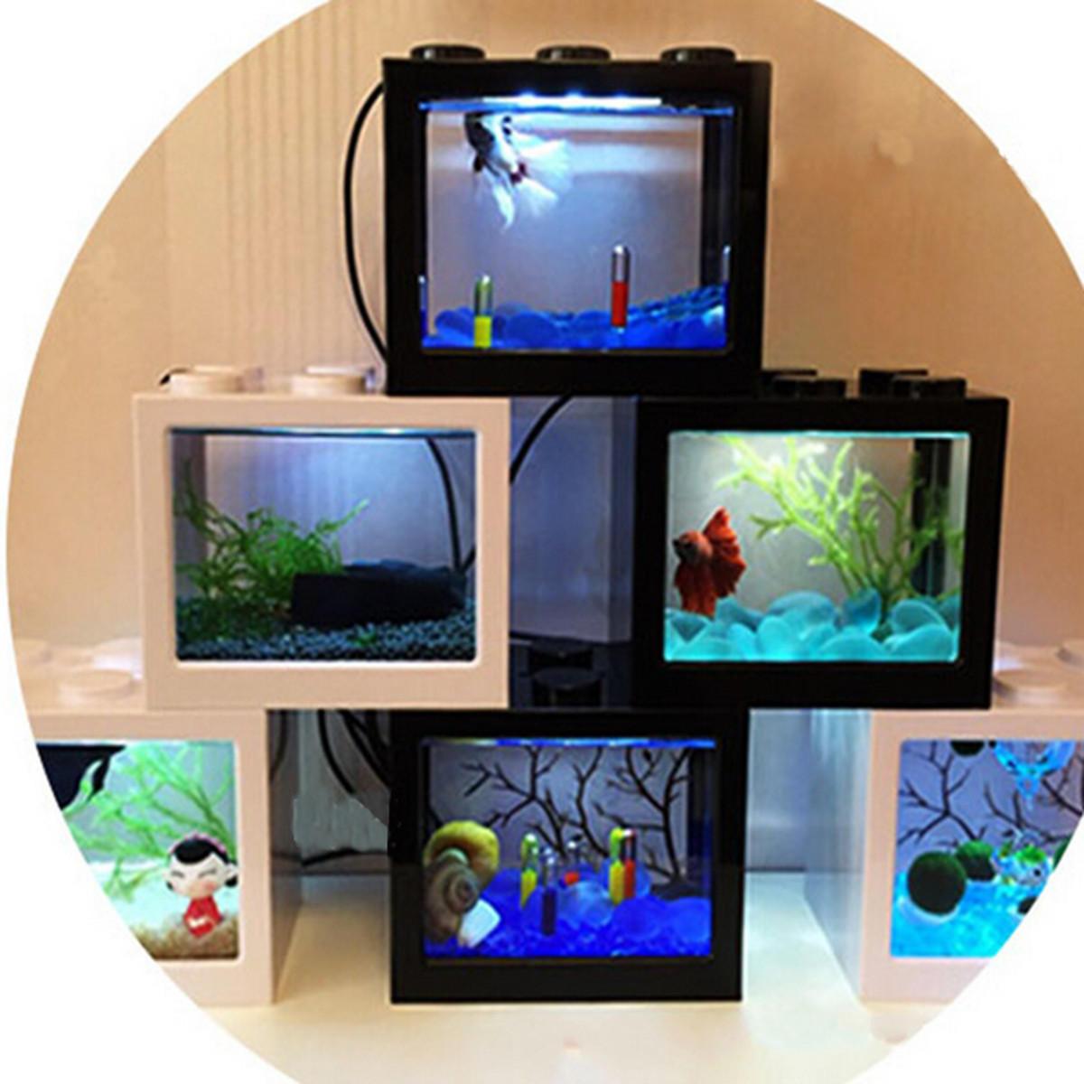 Mini Usb Led Light Clear Fish Tank Mini Aquarium Box Bettas Office Desktop Decor Fish Aquatic Pets From Pet Supplies On Banggood Com Sao Tome And Principe Bouvet Island St Pierre
