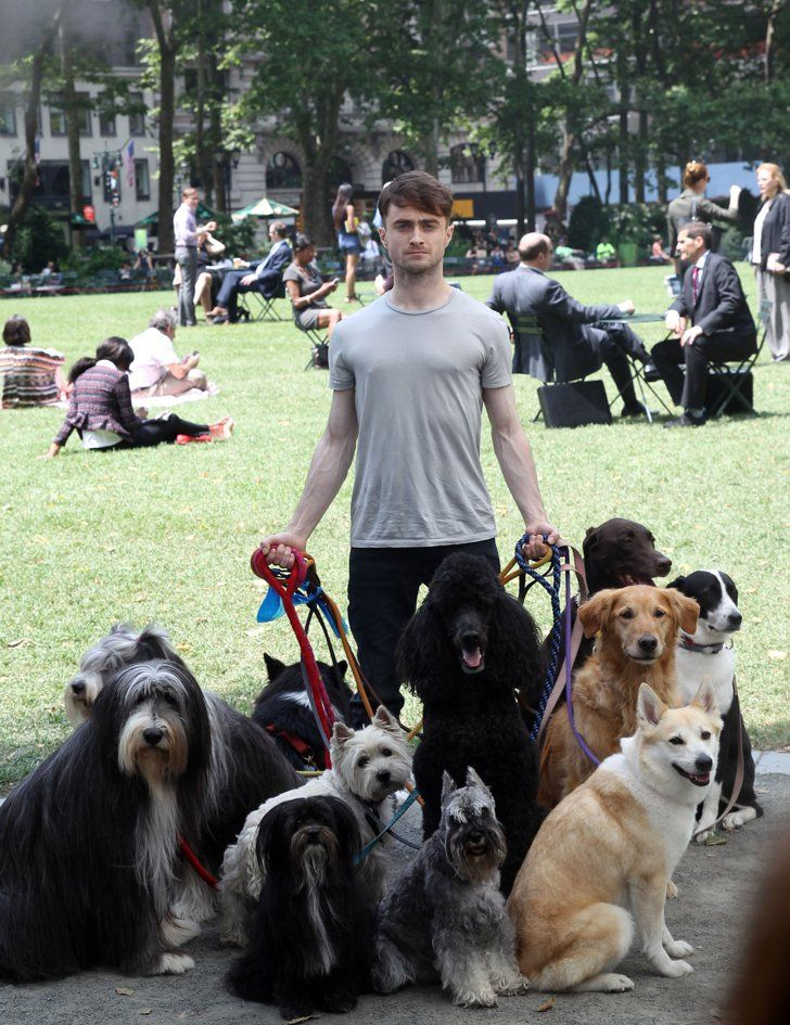 Pin for Later: The Week in Pictures: Cara and Clara Get Fruity!  Daniel Radcliffe got to know his costars on the set of Trainwreck in New York.