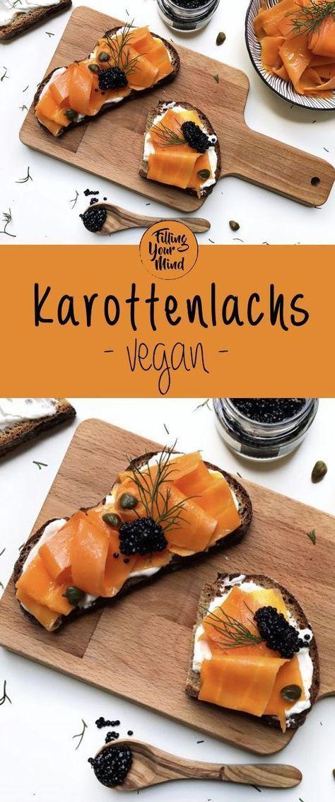 Täuschend echter Ersatz für Lachs - approved by vielen NichtVeganern! ;) #vegan #carrotlox #karottenlachs #vegetariandish