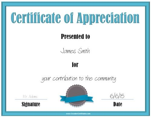 Printable certificate of appreciation Christmas gifts Pinterest - copy certificate of appreciation for teachers