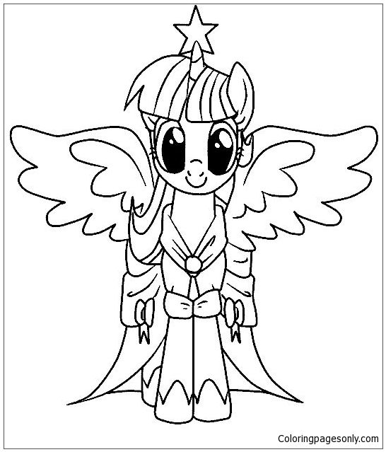 Pin by Coloring Pages on My Little Pony Coloring Pages